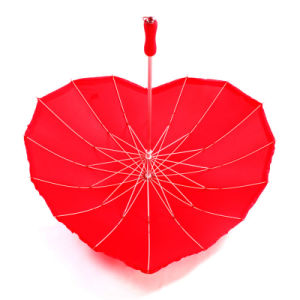 Hot Sale Promotional Fashion Branded Heart Shaped Umbrellas pictures & photos