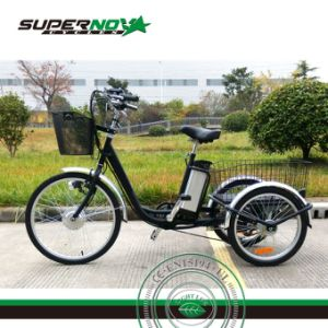 Electric 3 Wheel Bicycle with Cart pictures & photos