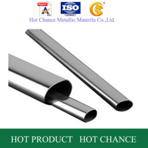 AISI 201, 304, 316 Oval Welded Stainless Steel Pipe pictures & photos