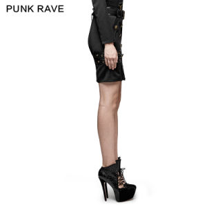 Q-316 Punk Rave Delicate Uniform Military Warrior Wrapped Half Skirt pictures & photos