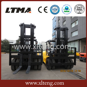 Ltma Hydraulic Manual Forklift 7 Ton Diesel Forklift with Fork Positioner pictures & photos