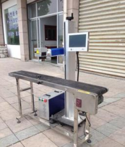 Nonmetal CO2 Flying Laser Marking Machine for Sale pictures & photos