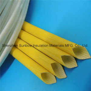 High Voltage Wire Jacket Protection Silicone Coated Electric Fiberglass Insulation Tube pictures & photos