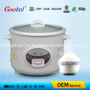 Glass Lid Straight Rice Cooker with Round Panel pictures & photos