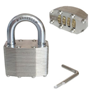 High Quality Combination Laminated Padlock 46mm pictures & photos