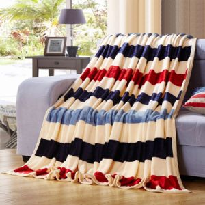 Promotion Hot Sales Flannel Fleece Blanket on Sofa pictures & photos