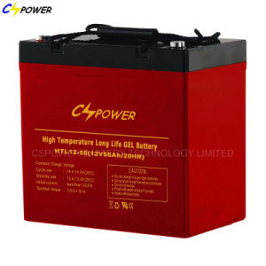 12V55ah Solar Power Gel Battery for Storage, Htl12-55 pictures & photos