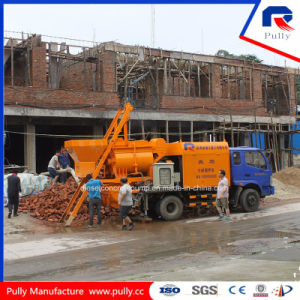 High Quality Truck Mounted Concrete Mixer Pump with Hydraulic System pictures & photos