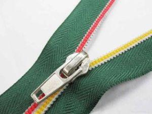 5#, 7# Nylon Zipper, Colorful Teeth, with Autolock Nickle Slider
