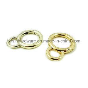 Custom Design Metal Spring Gate Round Ring pictures & photos