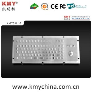 Ik07 Vandalproof Stainless Steel Keyboard with Trackball (KMY299I-2) pictures & photos