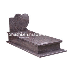 Design European Heart Headstone, Stone Monuments, Granite Gravestone for Cemetery pictures & photos