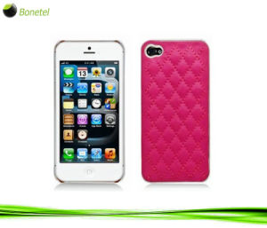 Fashion Inspired Luxury Quilted Mobile Phone Case for iPhone 5 (hot pink)