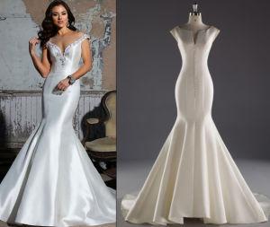 Mermaid Satin Customize Wedding Dress pictures & photos