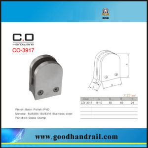 Stainless Steel Stair Handrail Post Glass Clamp (CO-3917) pictures & photos
