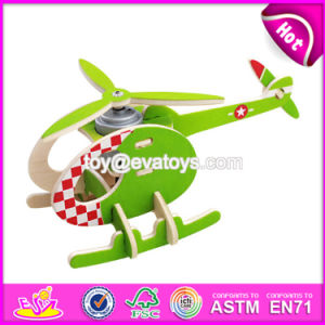 New Design Assemble Airplane Puzzle Wooden Best Toys for 4 Years Old W03b067 pictures & photos