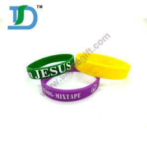 1/2 Inch Silicone Bracelet with SGS for Promotion pictures & photos