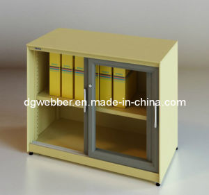 Glazed Sliding Door Filing Cabinet (SV -SLG0735) pictures & photos