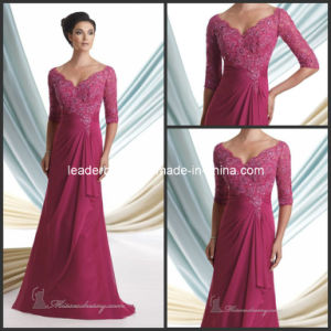 3/4 Sleeves Lace Chiffon Mother Dresses Bridesmaid Formal Evening Dresses Mc113925 pictures & photos