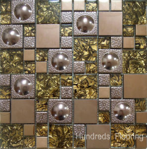 Glass Mosaic Wall Tile, Stainless Steel Metal Mosaic (SM210) pictures & photos