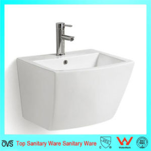 Bathroom Ceramic One Piece Wall Hung Basin pictures & photos