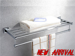 Grace Series - Bath Shelf with Towel Bar (GR-09-CP)