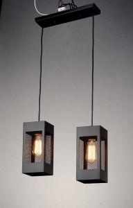 Black Square Pillar Shape of pendant Lighting Lamp (HL-SP-0603-2)