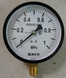 "4""Black Steel Case Pressure Gauge pictures & photos"