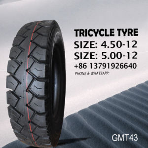 Tricycle Tyre/Tire and Tube (butyl& rubber inner tube) 450-12 500-12 Tyre pictures & photos