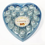 18 Pieces Blue Heart Chocolate (H18B)