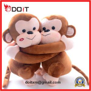 Custom Plush Brown Stuffed Hug Monkey Couple pictures & photos