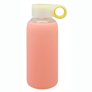 Single Wall Glass Water Bottle with Silicone Sleeve pictures & photos