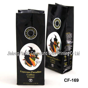 Valve Coffee Packaging Bag with Side Gusset pictures & photos