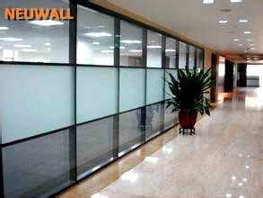 office glass partition wall system aluminum framed aluminum office partitions
