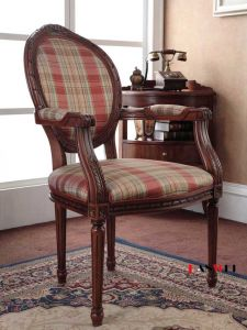 Wooden Furniture Solid Wood Chair with Armrest pictures & photos