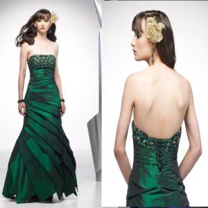 Strapless Beaded Taffeta Prom Dresses (Z-071)