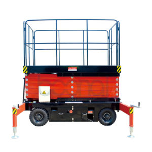 Mobile Scissor Lift (upgraded) Max Platform Height 8 (m) pictures & photos