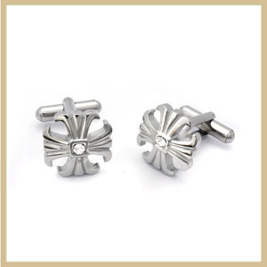 Engraveable Stainless Steel Cuff Link (TPCMK102)
