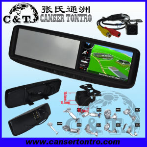 "4.3"" Car Rear View Mirror GPS LCD Monitor With Camera Kit (RVGSCDU)"
