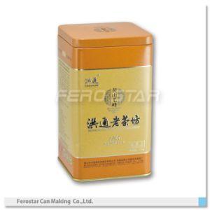 Square Tea Tin Can