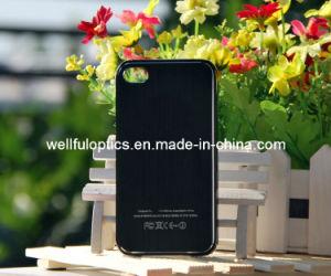 Phone Case Metal Drawbench Black Plastic for iPhone4/4s/5 Case (SJK023)