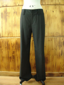 Women′s Pant with Two Functional Back Pockets (E64281)