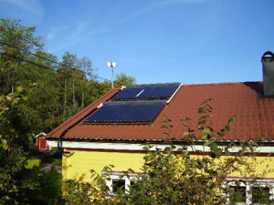 Slope Roof Solar Collector pictures & photos