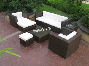 Synthetic PE Wicker Furniture Wicker Sofa (CNS-S1007)