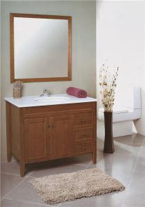 Veneer Plywood Solid Wood Bathroom Cabinet Bathroom Vanity
