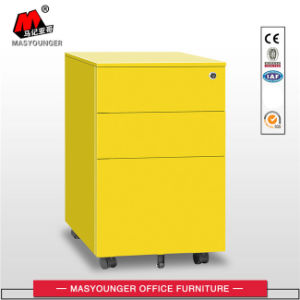 White Color Office Use 3 Drawer Mobile Pedestal Movable Filing Storage Cabinet pictures & photos