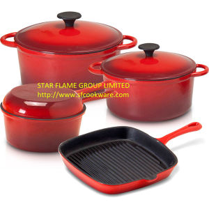 Enamelled Cookware Set (SFGP-STAR FLAME)
