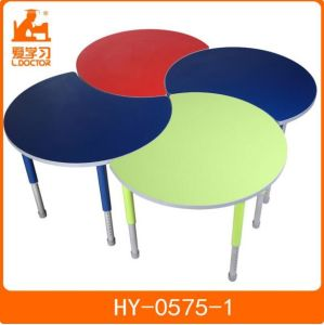 Colorful Kindergarten Furniture with Adjustable Wooden Tables pictures & photos