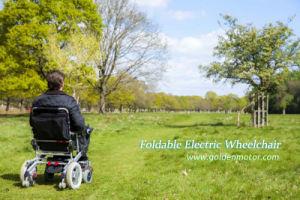 Electric Folding Wheelchair, Portable Wheelchair pictures & photos