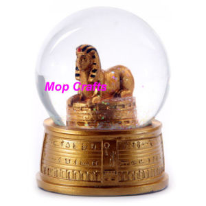 Resin Egyptian Figurine Water Ball Snow Globe